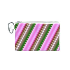 Pink And Green Abstract Pattern Background Canvas Cosmetic Bag (s)