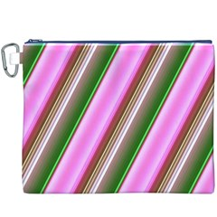 Pink And Green Abstract Pattern Background Canvas Cosmetic Bag (xxxl)