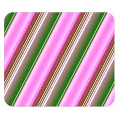 Pink And Green Abstract Pattern Background Double Sided Flano Blanket (small)