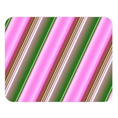 Pink And Green Abstract Pattern Background Double Sided Flano Blanket (large)