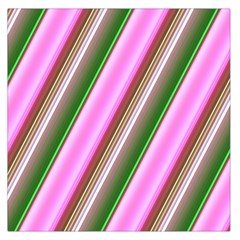 Pink And Green Abstract Pattern Background Large Satin Scarf (Square)