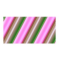 Pink And Green Abstract Pattern Background Satin Wrap
