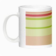 Turquoise Blue Damask Line Green Pink Red White Night Luminous Mugs