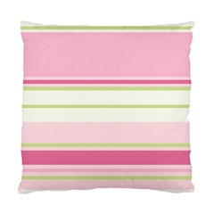 Turquoise Blue Damask Line Green Pink Red White Standard Cushion Case (Two Sides)