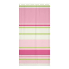 Turquoise Blue Damask Line Green Pink Red White Shower Curtain 36  x 72  (Stall)