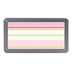 Turquoise Blue Damask Line Green Pink Red White Memory Card Reader (Mini)