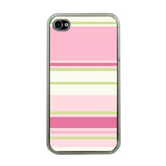 Turquoise Blue Damask Line Green Pink Red White Apple iPhone 4 Case (Clear)