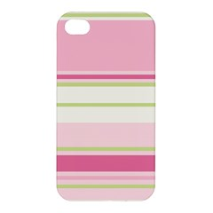 Turquoise Blue Damask Line Green Pink Red White Apple iPhone 4/4S Hardshell Case