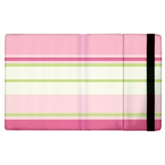 Turquoise Blue Damask Line Green Pink Red White Apple iPad 3/4 Flip Case