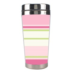 Turquoise Blue Damask Line Green Pink Red White Stainless Steel Travel Tumblers