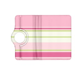 Turquoise Blue Damask Line Green Pink Red White Kindle Fire HD (2013) Flip 360 Case