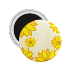 Sunflowers Flower Floral Yellow 2.25  Magnets
