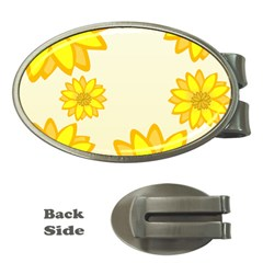 Sunflowers Flower Floral Yellow Money Clips (Oval)