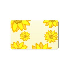 Sunflowers Flower Floral Yellow Magnet (Name Card)