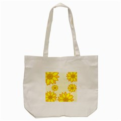 Sunflowers Flower Floral Yellow Tote Bag (Cream)