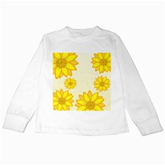Sunflowers Flower Floral Yellow Kids Long Sleeve T-Shirts