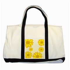 Sunflowers Flower Floral Yellow Two Tone Tote Bag
