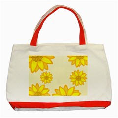 Sunflowers Flower Floral Yellow Classic Tote Bag (Red)