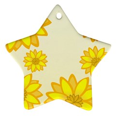 Sunflowers Flower Floral Yellow Star Ornament (Two Sides)
