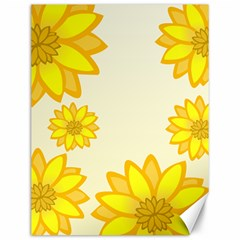 Sunflowers Flower Floral Yellow Canvas 12  x 16