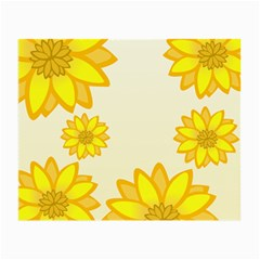 Sunflowers Flower Floral Yellow Small Glasses Cloth (2-Side)