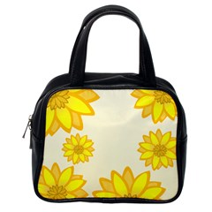 Sunflowers Flower Floral Yellow Classic Handbags (One Side)
