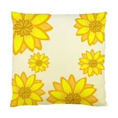 Sunflowers Flower Floral Yellow Standard Cushion Case (One Side)