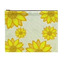 Sunflowers Flower Floral Yellow Cosmetic Bag (XL)