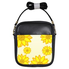 Sunflowers Flower Floral Yellow Girls Sling Bags