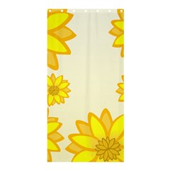 Sunflowers Flower Floral Yellow Shower Curtain 36  x 72  (Stall)