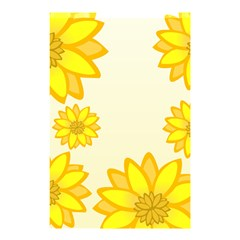 Sunflowers Flower Floral Yellow Shower Curtain 48  x 72  (Small)