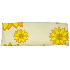 Sunflowers Flower Floral Yellow Body Pillow Case Dakimakura (Two Sides)