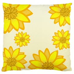 Sunflowers Flower Floral Yellow Large Cushion Case (Two Sides)