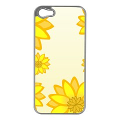 Sunflowers Flower Floral Yellow Apple iPhone 5 Case (Silver)
