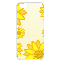 Sunflowers Flower Floral Yellow Apple iPhone 5 Seamless Case (White)