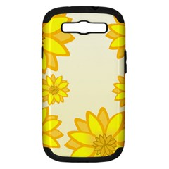 Sunflowers Flower Floral Yellow Samsung Galaxy S III Hardshell Case (PC+Silicone)