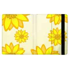 Sunflowers Flower Floral Yellow Apple iPad 2 Flip Case