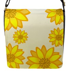 Sunflowers Flower Floral Yellow Flap Messenger Bag (S)