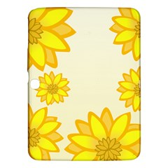 Sunflowers Flower Floral Yellow Samsung Galaxy Tab 3 (10.1 ) P5200 Hardshell Case