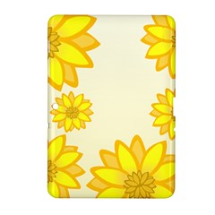 Sunflowers Flower Floral Yellow Samsung Galaxy Tab 2 (10.1 ) P5100 Hardshell Case
