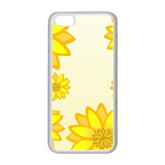 Sunflowers Flower Floral Yellow Apple iPhone 5C Seamless Case (White)