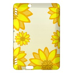 Sunflowers Flower Floral Yellow Kindle Fire HDX Hardshell Case