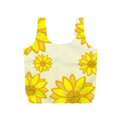 Sunflowers Flower Floral Yellow Full Print Recycle Bags (S)