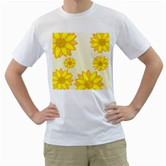 Sunflowers Flower Floral Yellow Men s T-Shirt (White)