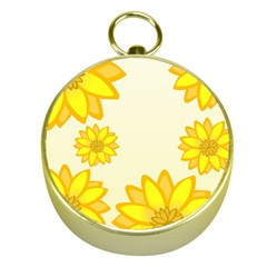 Sunflowers Flower Floral Yellow Gold Compasses