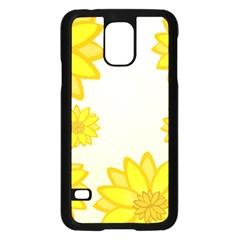 Sunflowers Flower Floral Yellow Samsung Galaxy S5 Case (Black)