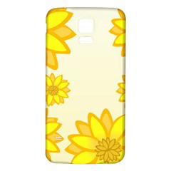 Sunflowers Flower Floral Yellow Samsung Galaxy S5 Back Case (White)