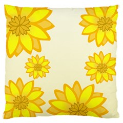 Sunflowers Flower Floral Yellow Standard Flano Cushion Case (One Side)