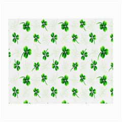 Leaf Green White Small Glasses Cloth (2-Side)