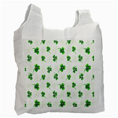 Leaf Green White Recycle Bag (One Side)